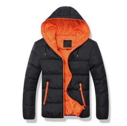 Wholesale Hooded Outwear For Men - Men's coat Winter Jacket Men Cotton Blend Coats Zipper Mens Jacket Casual Thick Outwear For Men Asia Clothing Male