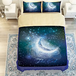 Wholesale Colorful Bedspreads - 7 Styles Colorful galaxies Printing Bedding Sets Twin Full Queen King Size Bedclothes Bedspreads Duvet Covers Different Galaxy 400TC 3 4PCS