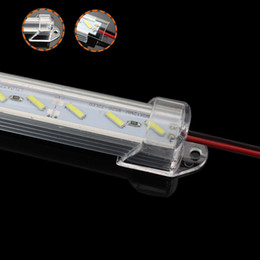 Wholesale Led Light Bars For Showcases - SMD 8520 Dual Chips Hard LED Bar Lights 36leds 50cm Length Strip light with Shell Cover for Foyers Showcase Kitchen Super Bright