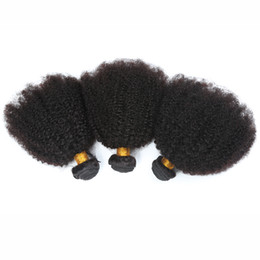Wholesale Mongolian Kinky Curly Weave - Brazilian 4B 4C Human Hair Extension 8A Brazilian Kinky Curl Virgin Hair 3Pcs Afro Kinky Curly Human Hair Weave