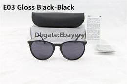 Wholesale Polished Sunglasses - 5pcs Top Quality Fashion Sunglasses For Man Woman Erika Eyewear Designer Brand Sun Glasses Polished Black 54mm Lenses Box Case