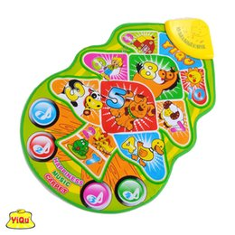 Wholesale Carpet Farm - Wholesale- Baby toy electronic toys Multicolor Animal Farm musical carpet Music Touch Blanket play singing gym mats child game mat