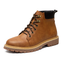 Wholesale Male Mixed Charms - Male British Wind Short Tooling Martin Boots Shoes Men's Winter Keep Warm Cotton Rome Ankle Boots Shoes 38-44