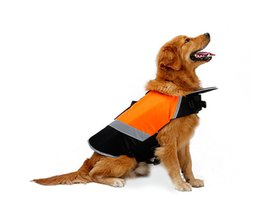 Wholesale Swimming Dogs - Pet lifejacket Dog swim vest Big dog professional swimwear