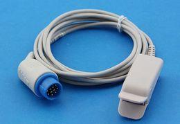 Wholesale Oxygen Probe - Wholesale- Mennen 12pin Adult SPO2 Sensor Pulse Oxygen Probe, Adult Finger Clip, Masimo Technology