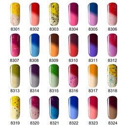 Wholesale Wholesale Color Changing Nail Polish - Wholesale- 2016 Newest Color UV Nail Gel Polish Modelones Temperature Changing Color UV Gel Polish 7ML Thermal Chameleon Nail Enamel Gel