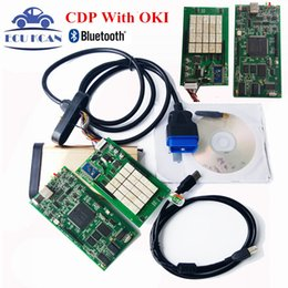 Wholesale M6636b Oki Chip - Wholesale- Newest V2014.02 With Keygen OBD2 Scanner TCS CDP PRO Auto Diagnostic Tool Com With Bluetooth CDP OKI Chip ( M6636B OKI Chip )