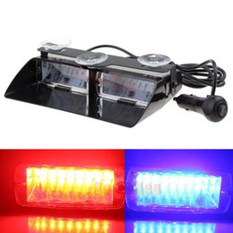 Wholesale 24v Police Lights - 16 LED Blue Red Car Police Strobe Flash Light Emergency Warning Light Flashing