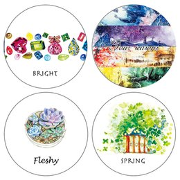 Wholesale Paper Washi Tapes - Wholesale- 2016 NEW!!! High Quality Freshy  Spring  Diamonds Pattern Japanese Washi Decorative Adhesive Tape DIY Masking Paper Tape Sticker