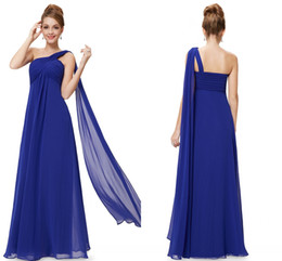 Wholesale Wedding Dresses Large Trains - Free Shipping Cheap Navy Blue Bride Tasting Dress Red Wedding Dresses Bridesmaid Dresses Shoulders Chiffon Large Size Pregnant Women Dresses