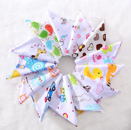 Wholesale Children Scarfs Triangle - 21 Styles Baby Burp Bandana Bibs Cotton Soft Kids Child Toddler Triangle Scarf Bib Cool Accessories Infant Saliva Towel G0190