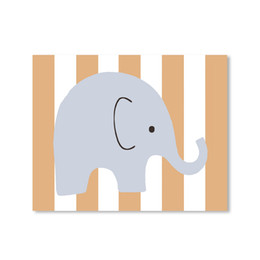 Wholesale Elephant Frame - ARTPIONEER cute elephant print poster modern cartoon nursery paintings on canvas art for kids room christmas decoration