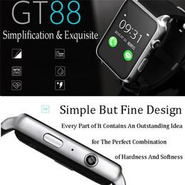 2019 reloj para fitbit flex Monitor de ritmo cardíaco Bluetooth impermeable Reloj inteligente GT88 Smartwatch Sync Notifier Soporte para tarjeta SIM Conectividad Bluetooth para iOS Android