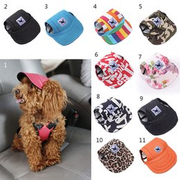 Wholesale Outdoor Wedding Supplies - 1pcs Pet Dog Canvas Hat Sports Baseball Cap with Ear Holes Summer Outdoor Hiking for Small Dogs Size S M Pet Supplies