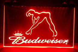Wholesale Budweiser Led Sign - b02 Budweiser Exotic Dancer Stripper bar pub club 3d signs led neon light sign home decor crafts