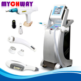 Wholesale Laser Hair Salon Equipment - Anti-inflammatory 3in1 IPL Cooling RF Hair Removal Q-Switched ND Yag Laser Tattoo Removal Skin Whiten E-light Salon Beauty Equipment