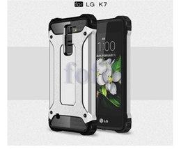 Wholesale Dual Iphone Case Hard Soft - Dual Layer Armor Hybrid case Soft TPU+Hard Plastic Heavy Duty Defender Protector Case For LG G5 K7 K4 For Moto G4 Plus G4 Play Huawei