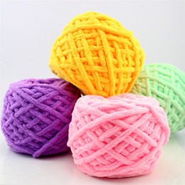 vente en gros coloré colorant foulard tricoté à la main filé pour le tricotage à la main lait de coton doux filé laine épaisse filé ? partir de fabricateur