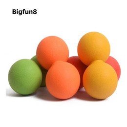 Wholesale Massage Acupoint - Wholesale- Acupoint Massage Fitness Yoga Ball Double Muscal Release Peanut Fascia Balls Sport Bodybuilding Foot Plantar Rub Fitness Balls