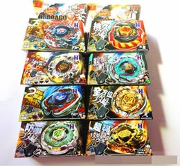 Wholesale Wholesale Metal Spinning Top - Kid Child Boy Toy Spinning Tops Clash Metal 4D Beyblades Beyblade 8Style BB105 106 108 109 111 114 117 Limited Edition