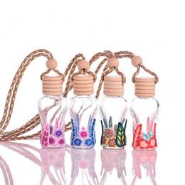Argentina MINI 15 ml Colorido Vidrio Botella de Aceite Esencial colgar decoración colgante Fimo belleza Frascos de Perfume Regalo de Boda F2017152 supplier mini bottle vial pendant Suministro
