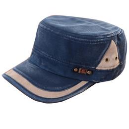 Wholesale Vintage Cadet Hats - Classic Men Women Adjustable Army Plain Vintage Hat Cadet Baseball Cap