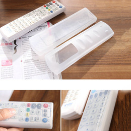 Wholesale Tv Remote Control Cases - Wholesale- Hot Sale 19*5.5*1.5cm TV Remote Control Waterproof Dust Silicone Skin Protective Cover Case Wholesale in stock!!!