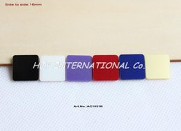 Wholesale colors mm Assorted Beads Square Acrylic for Earrings Dark pink Aqua Blue Green Turquoise Pink quot AC1031B