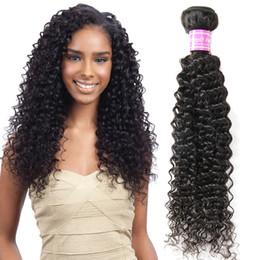 Wholesale Mongolian Kinky Curly Remy Weave - On Sales Brazilian Human Hair Weaves Unprocessed Natural Black Kinky Curly Malaysian Cambodian Mongolian Indian Peruvian Human Hair Bundles
