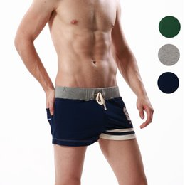 Wholesale Men S Smallest Underwear - Wholesale- Seobean brand New casual summer beach Small cotton Young men boxer shorts household underwear Cotton pants of sweatpants arrow