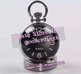 Wholesale Bell Clocks - Top Quality AAA Crystal ball Fish Eye Shape Bell Clock Watch Mechanical Retro Pam 8 Days Family The Office Power Reserve Clock Watches