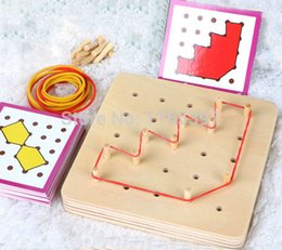 Wholesale Woods Motors - Wholesale- Free ship 1 Set children Wooden Montessori shape match & building toys early fine motor skills development sensorial Education