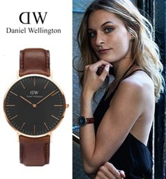 Wholesale Clocks Black - 2017 Fashion Wrist Watch Women Watches Daniel Ladies Luxury Brand Famous Quartz Watch Wellington Female Clock Relogio Feminino Montre Femme