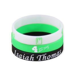 Wholesale Wholesale Mens Diamond Bracelets - Isaiah Thomas Signature Bracelet No.4 Sport Bracelets Mens Silicone Bracelet Elastic Gym Fitness Energy Wristbands For Men