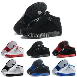 Wholesale 18 Thread - 18 Mens Basketball Shoes 18s XVIII Sneakers white black blue red US8-13 Free shipping
