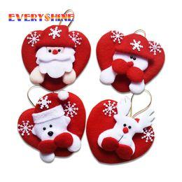 Wholesale Deer Ornament - Mixed 24Pcs  Lot Indoor Christmas Hanging Ornaments Decoration Santa Claus Snowman Deer Doll Pendants For Home Decor Sd 27