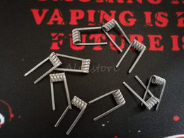 Wholesale Flat Steel Coil - Alien v2 Coils Wire 0.25ohm 0.4mm*3+0.25mm 316L Stainless Steel Material Wave Flat Clapton Premade Wrap Prebuilt Wires for RDA RBA