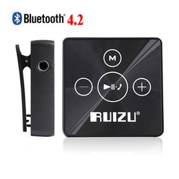 Wholesale Mini Clip Mp3 Music Player - Wholesale- Ruizu X15 Portable Digital Lossless Hifi Audio Sport Mini Clip Mp 3 Music Mp3 Player Bluetooth 8GB Running With Flac Media WAV