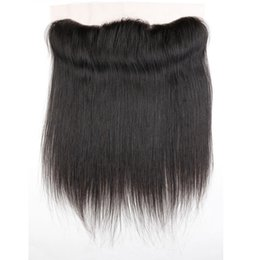 Wholesale Lace Front Part Closure - 13x4 Straight Lace frontal closure, Brazilian Straight lace front closure, 8A virgin human hair with bleached knots lace frontal Peruvian