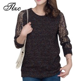 Wholesale Computer Delivery - Wholesale-Super Star Same Style Lady Casual Sweaters Plus Size L-4XL Hollow Out Sleeve Women Knitwear Fashion Women Clothes Fast Delivery