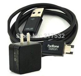 Wholesale Asus A68 - Wholesale- USB chager cable + Charger Adapter for Asus padfone 2 A68 free shipping