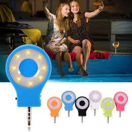 Wholesale Night Light Mobile - RK-07 LED Selfie Flash Light Mini Portable Night Using Charging LED Fill Light for iphone iPad Android Mobile Phone Selfie Sync Led Flash