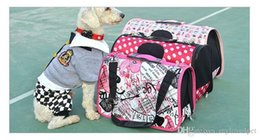 2019 luz - saco cor-de-rosa do cão Saco de animal de estimação de lona D23 portadores de cão sacos portáteis saco de mão de gato pacote cães externide saco de ombro único