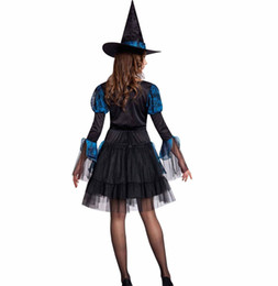 Wholesale Noble Women Costumes - Carnival Party Fancy Witch Costumes Halloween Noble Masquerade Classical Witch Cosplay Costume Female Disfraces