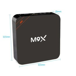 Deutschland M9X Android smart TV Box Amlogic S905x Quad-Core 2G / 16G HDMI WIFI Unterstützung 4 Karat 1080i / p Bluetooth Set Top-TV Box 2g 16g freies verschiffen. Versorgung
