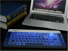 Wholesale Aluminium Frame - Wireless Keyboard Ultra Slim(1.3mm) Waterproof Touch Smart Keyboard Computer Keyboard with glass and aluminium frame Upgrade Generation 2