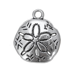 Wholesale Jewelry Accessories Nautical - Nautical Items Beach Sand Dollar adorable Accessory Charm Antique Silver Plated Charm DIY Necklace&Bracelet Jewelry Special style hot sell