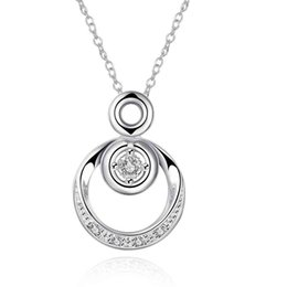 Wholesale Silver Necklace Designs Price - Wholesale- Free Shipping Fashion Design silver collar necklace Double circle tattoo choker prices in euros SMTN824