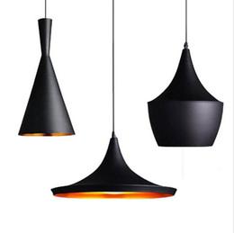Wholesale coffee bedroom - Loft LED Pendant Light Black Restaurant Lights Aluminum Suspension Lamp Fixtures for Restaurant Bar Coffee room Deco