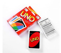 Wholesale Popular Kids Games - 2017 New UNO Poker Card Games Popular Entertainment Card Games UNO Cards Family Fun Entermainment Board Game Kids Funny DHL FEDEX